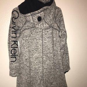 NWT Calvin Klein long utility Jacket
